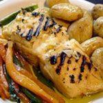 Morue grillé avec pommes de terre au four