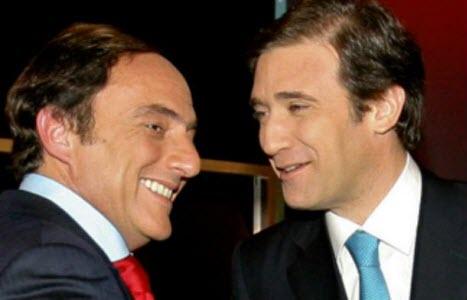 Paulo Portas et Pedro Passos Coelho