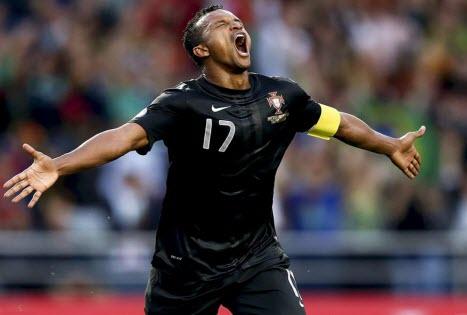 Portugal - Luxembourg. (NANI joueur de la Seleção)
