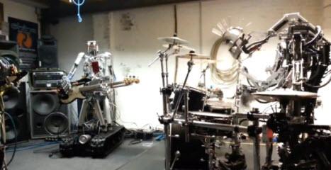 Musique joué par des robots