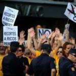 Les indignés en Espagne manifestent contre le plan de rigueur