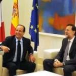 A Madrid Hollande et Rajoy solidaires pour appeler à préserver l'euro